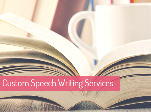 Custom speech writing service